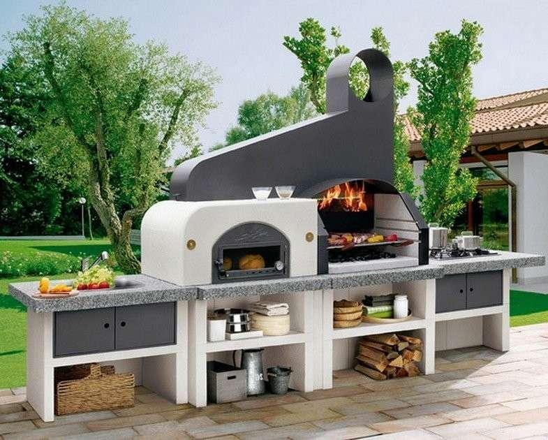 Barbecue in muratura mastrosimone artefuoco - Barbecue da giardino in pietra ...