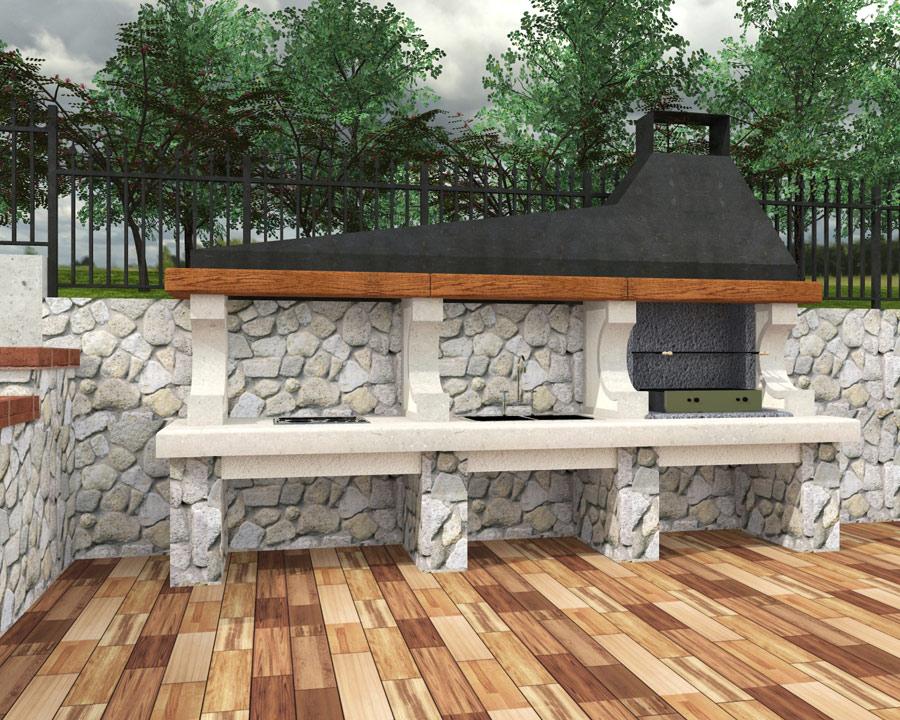 Arredamento giardino barbecue barbecue da esterno - Arredamento da esterno economico ...